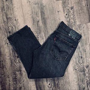 Men's Black Jeans Levi's 505 Size 36X27 Straight